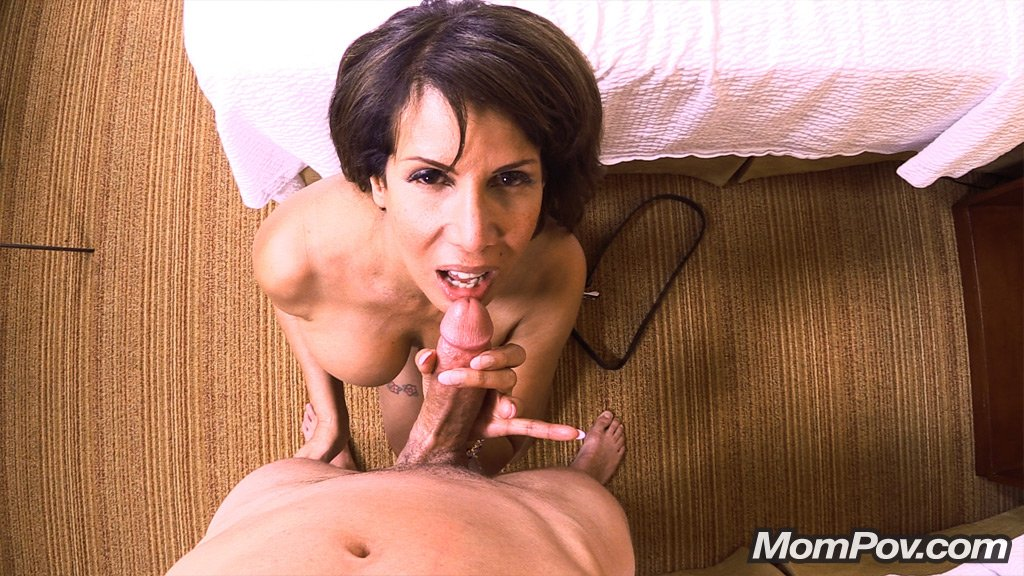 image Brunette mom blowjob first time small girl