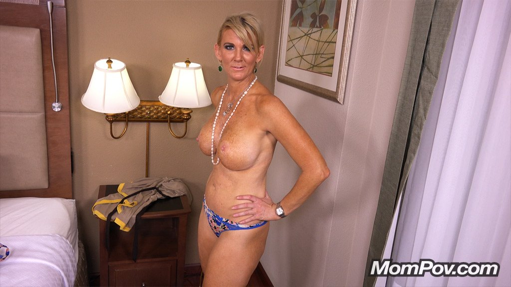 Mature Mom Swallows Sons Load