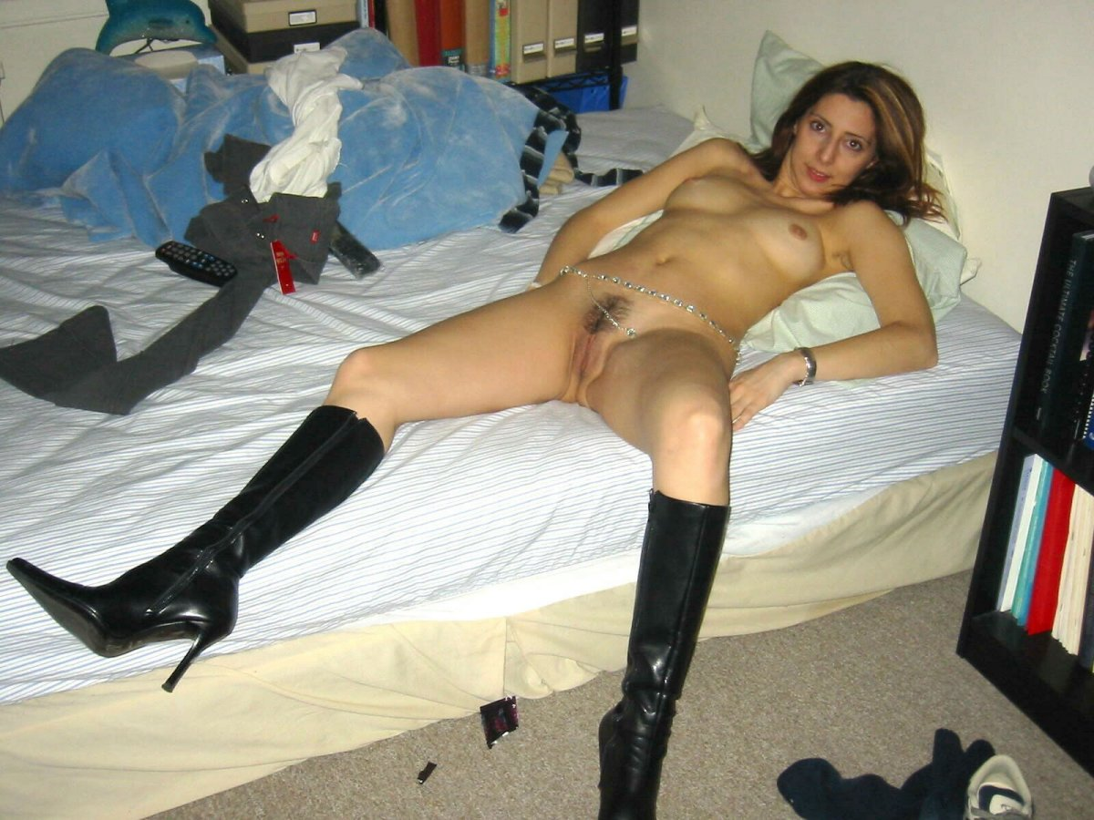 Wife in fuck me boots