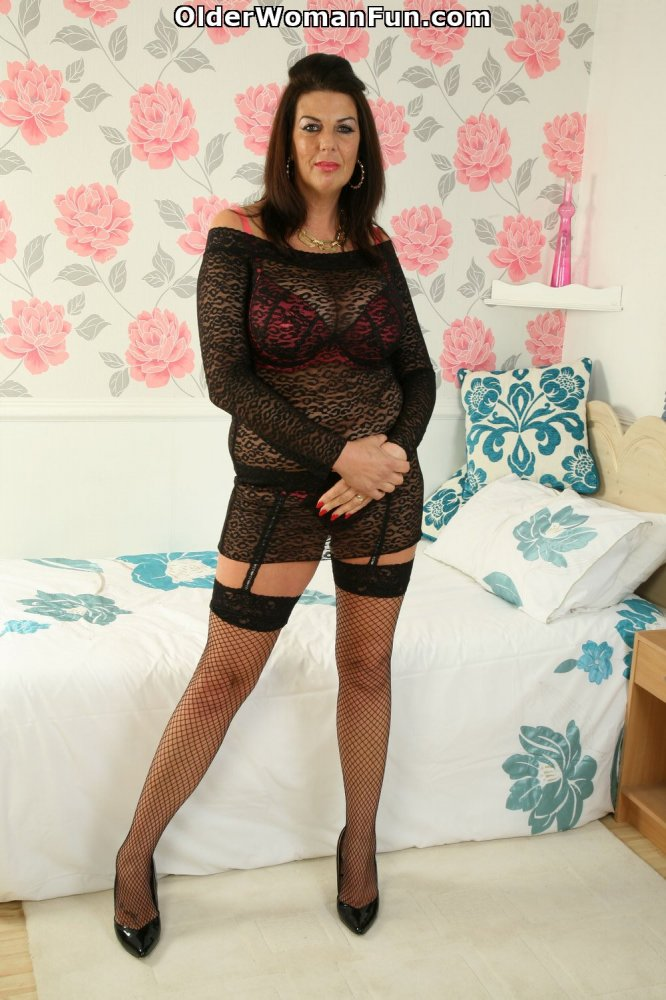 British milfs lulu lush and alisha rydes in stockings - 2 part 6