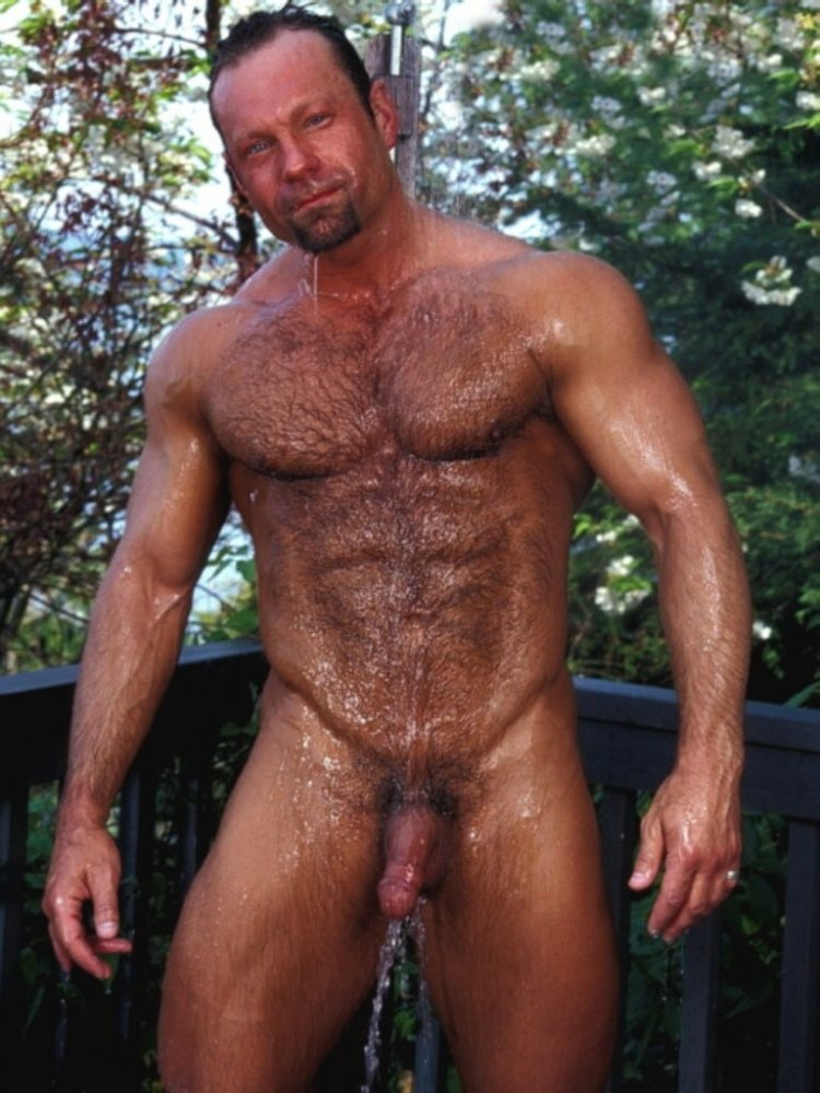 Gay shower outdoor video