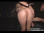 Sexy Young Blonde Slut Fucks Entire Porn Theater