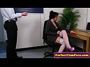 Busty office brit throa...