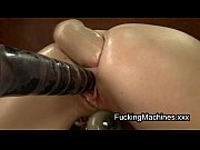 Picture Hot brunette fucks machine and fists ass