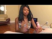 Hot Teen Ebony Handjob Demonstration