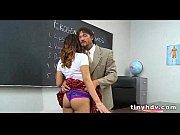 Секси секретарша в черных чулках