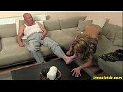 Grandpa banged cute Granddaughter on sofa