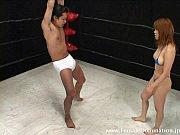 Mistress kicks slave's balls nonstop while in t...