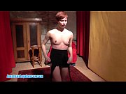 Short-haired redhead does nasty lapdance show