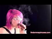 Enjoying a Thick Cigar
