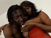 Horny black chick with gorgeous tits fucked har...