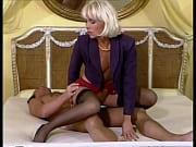 Beautiful High-Heels Blonde in Lingerie gets Bi...