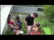 Picture Huge tits Krystal Swift PUBLIC gangbang orgy...