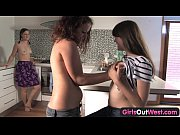 Picture Girls Out West - Young lesbian threesome in...