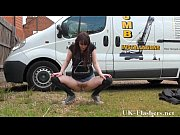Daring outdoor masturbation of flashing english amateur babe Indigo showing firm