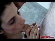 Жосткое порно с молодой сисястой рыжей