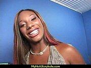 Ebony sloppy gloryhole blowjob 21