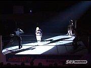 Видео состоит из двух роликов. В первом двое парней догоняют спортсменку и трахают её, во втором озабоченный мужик заваливает грудастую японку на пол, мнёт ей сиськи, а потом присовывает свой член в мохнатое влагалище.<!--ru-->