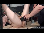 Basket hung from nipples in extreme tit torture...