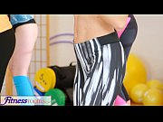 FitnessRooms lovers make each other cum after g...