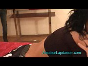 Amazing brunette with great body dances on a gu...