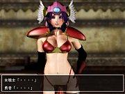 【エロアニメ】(エックスビデオs)3Dえろあにめ レベルの弱い美巨乳女戦士がスライムち○ぽで指導鍛錬