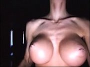 blond girl with fakeboobs tease from www.slutca...