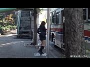 Asiática transando no onibus com desconhecidos