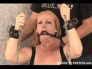 MILF Tori gets chained up and tormented