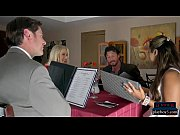 Mature wife Katie Morgan cheats in restaurant b...