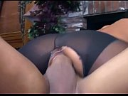 pantyhose up ripped in fucking brunette Busty