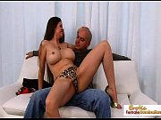 Bald stud drills a busty milfs wet trimmed pussy