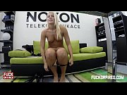 Promotion for a fuck? Blonde slut says yes!