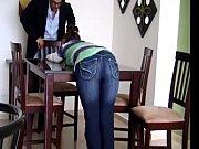 Мама с дочкой устроили парнише массаж с пристрастием