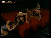 Hot orgy in cinema