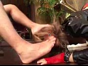 girl licks male feet and toes