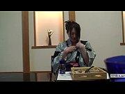 Subtitled uncensored shy Japanese milf in yukat...