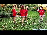 Les cheerleaders fourway fun after pratice