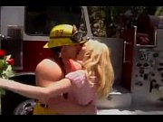 Blonde Hoe - Fireman to the rescue