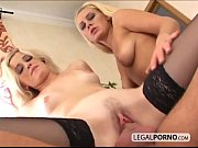 2 blonde chicks fucked by a big cock SL-2-02