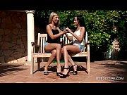 Petite amateur lesbian stunners embrace and kis...