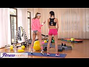 FitnessRooms Two Lesbian Gym partners workout a...