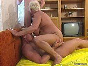 Picture Busty blonde granny enjoys threesome fucking