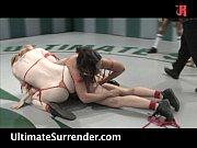 4 girls wrestling naked! Live audience!