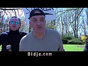 Six mad grandpas gangbang rich young blonde to ...