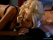 Glamorous Nikky Blond served with a huge facial