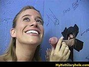 Блондинка с маленькими сиськами похлопывает член своего парня
