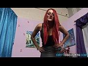 Redhead domina hj and cum