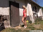 barn the in nailed gets teen Blonde