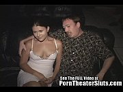 bang gang public a in strangers theater porn pleases wife slut Cheating